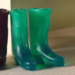 Pair of rubbery green wellies  Now: $1.60