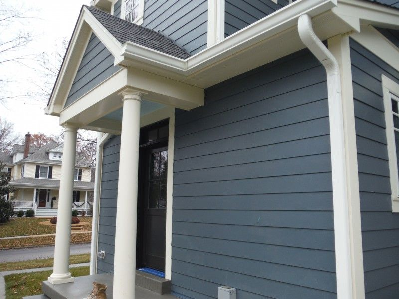 Hardie Plank Evening Blue Possibility With Images Outdoor Remodel Cottage Exterior House Exterior