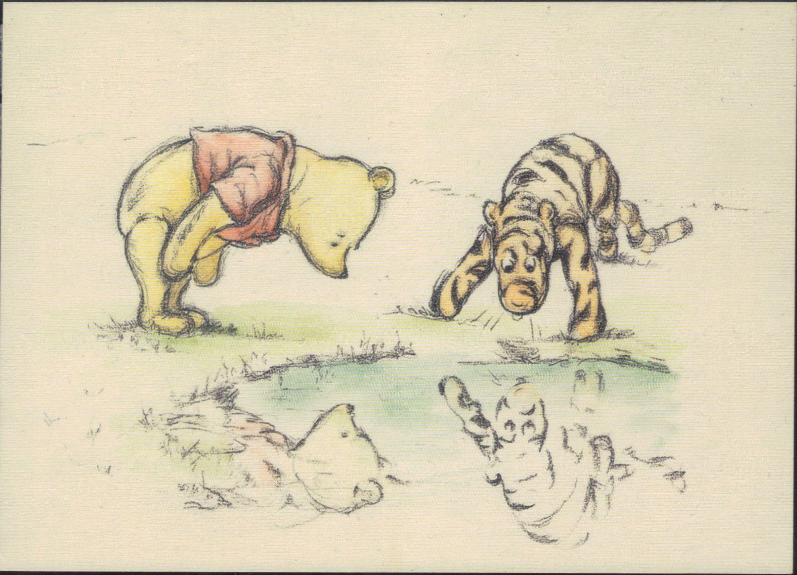 classic pooh comic postcard winnie the pooh amp tiger