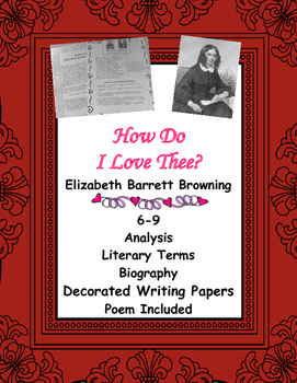 analysis of the poem how do i love thee