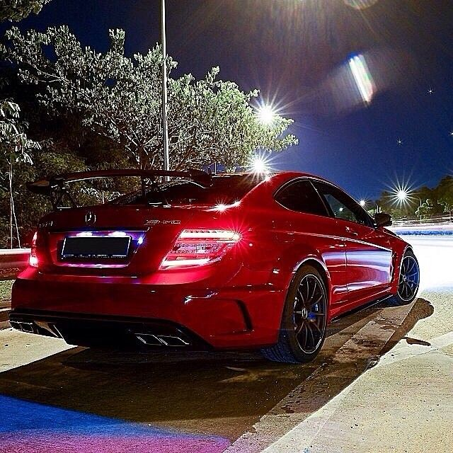 Mercedes Benz C63 Black Series: Night Time Is The Right Time. #MBPhotoCredit