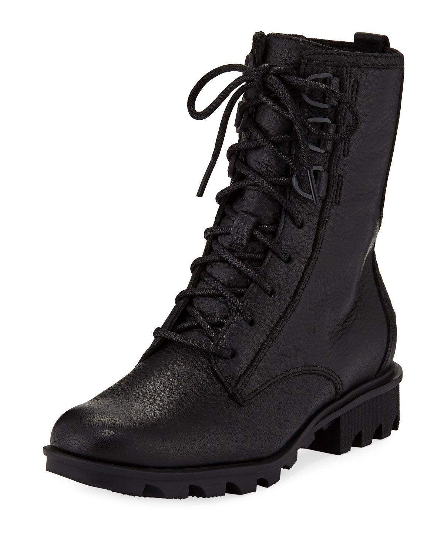 Sorel Phoenix Waterproof Leather Combat