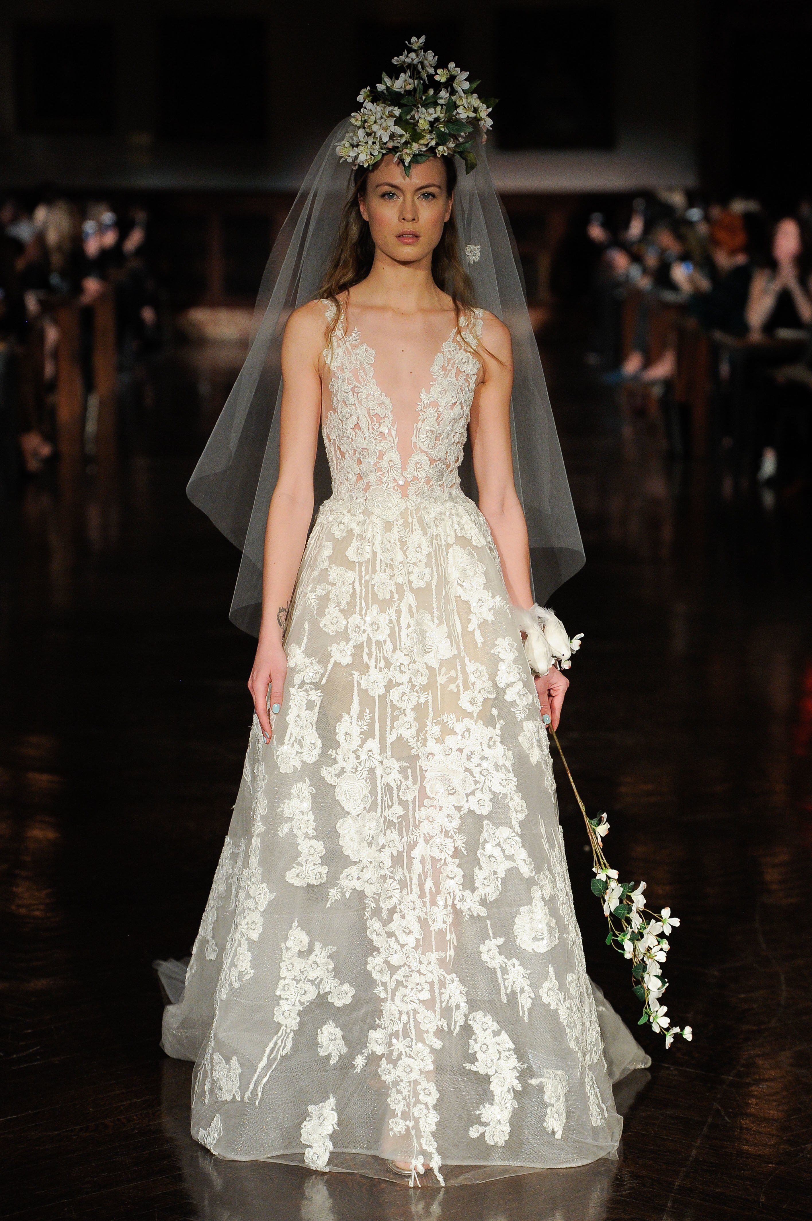 Reem Acra - Bridal Spring 2019 Look 21 | Wedding | Pinterest