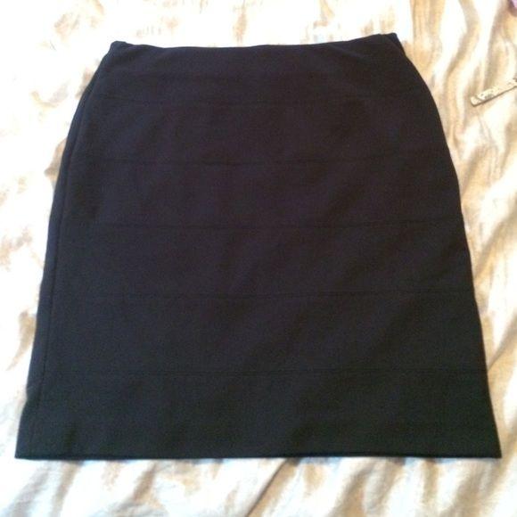 Alfani pencil skirt Black stretchy waist Alfani pencil skirt. New without tags Alfani Skirts Pencil