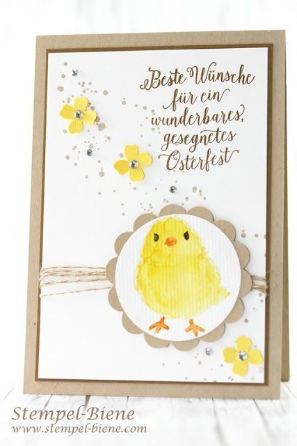 Easter card Stampin 'Up; Watercolors; Sale a bration; Chick temple; So S… – #3…