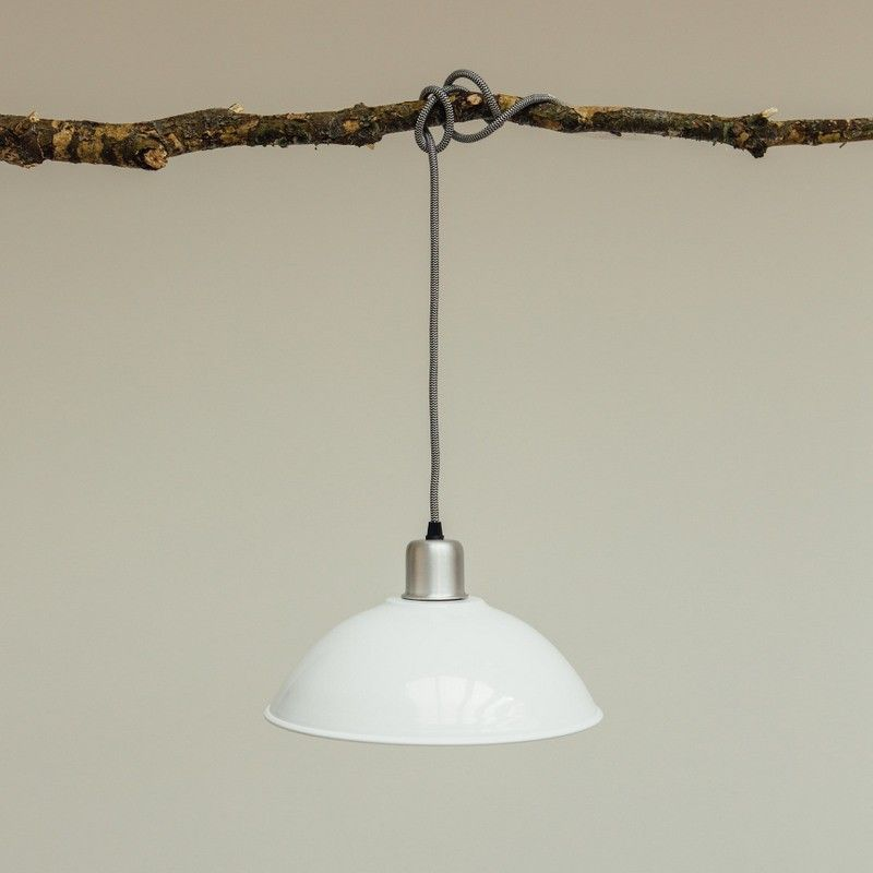 White Basin Pendant Light http://www.graceandgloryhome.co.uk/basin-lamp-white.html