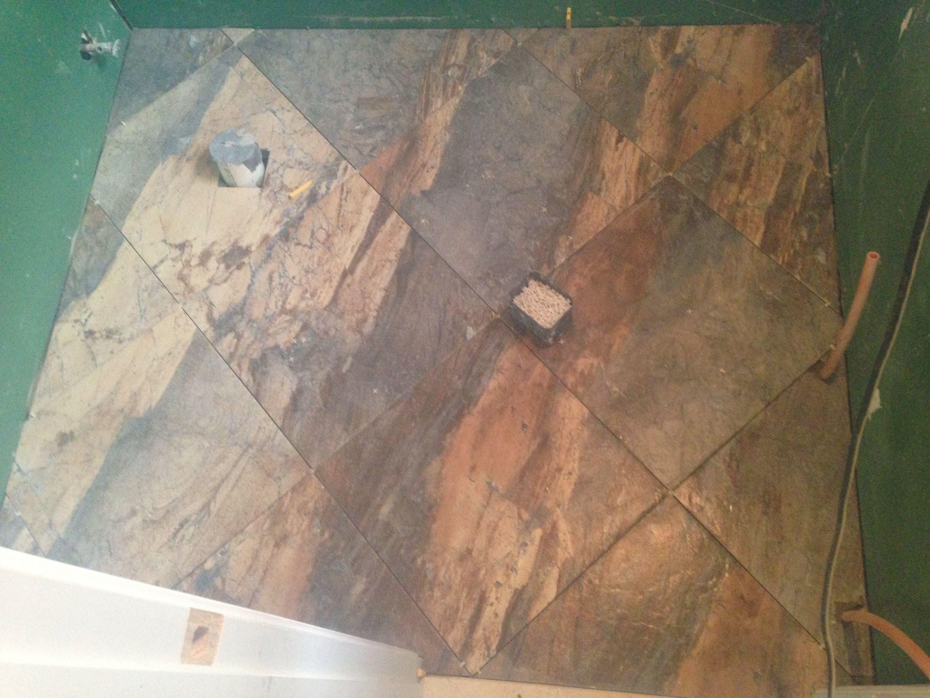 Terminado el piso del bano