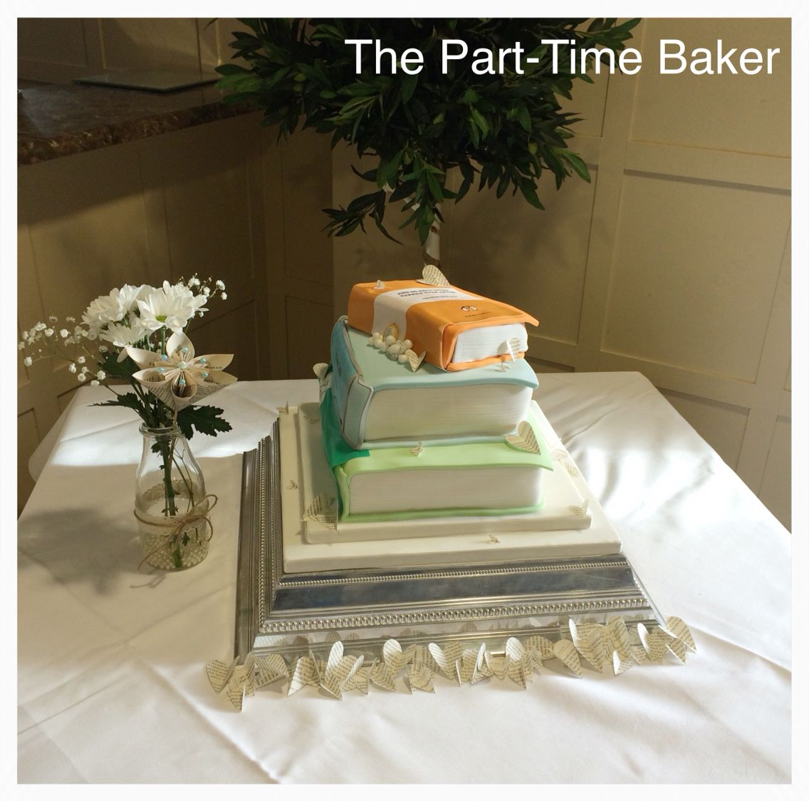 Book Themed Wedding Cake With Personalised Edible Prints The Part