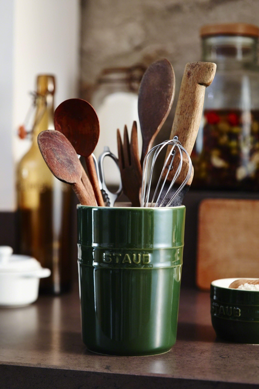 Utensilienhalter Keramik in 15  Pfannenwender, Küchen helfer