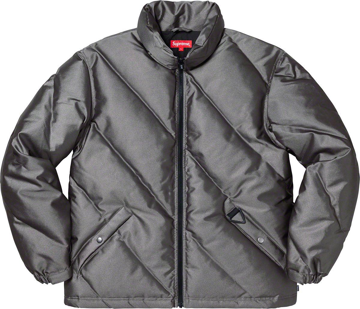 Supreme Iridescent Puffy Jacket Jackets Puffy Jacket Fashion Design [ 1030 x 1200 Pixel ]