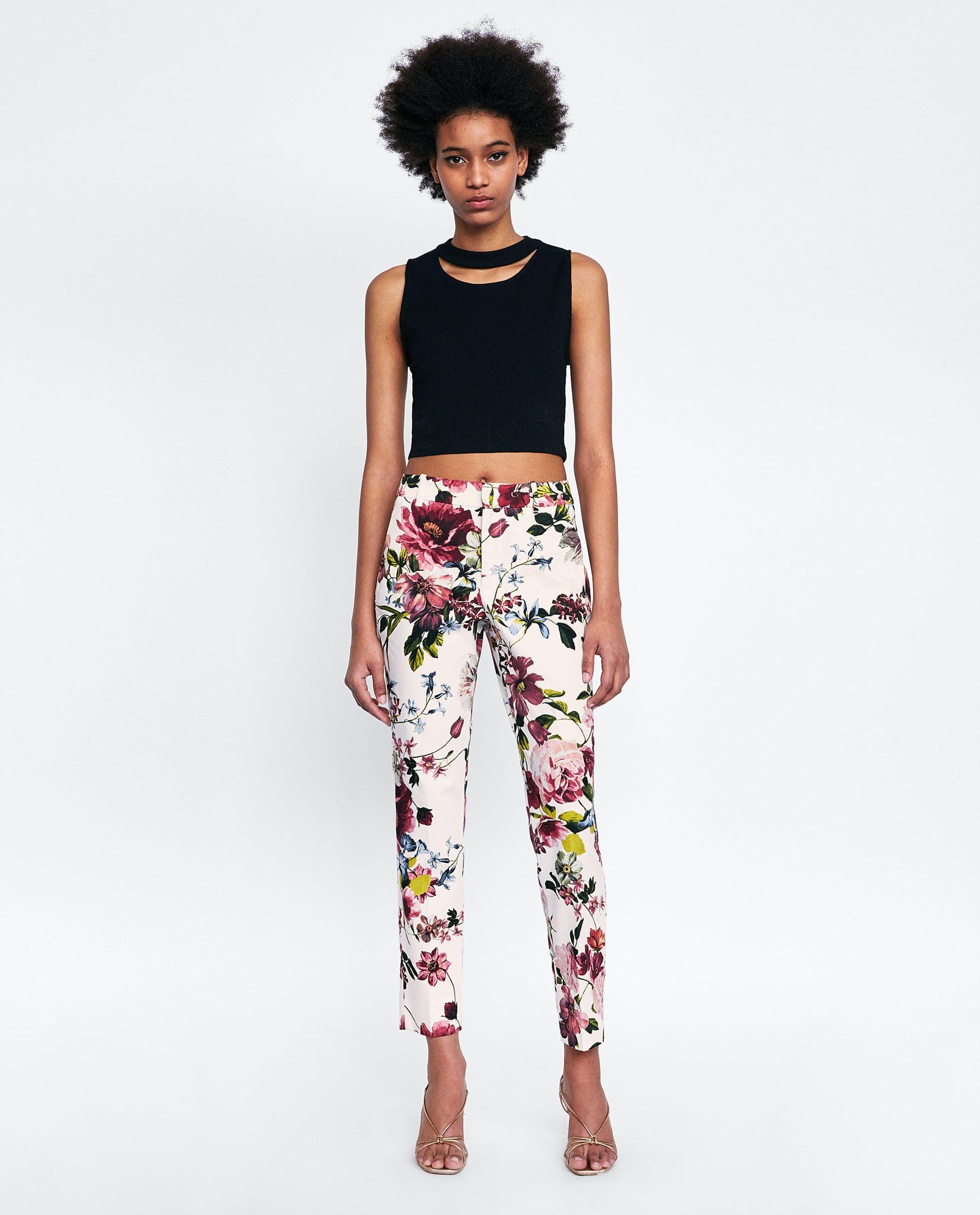 Pantalon Chino Estampado Floral Stripes And Floral Clothing