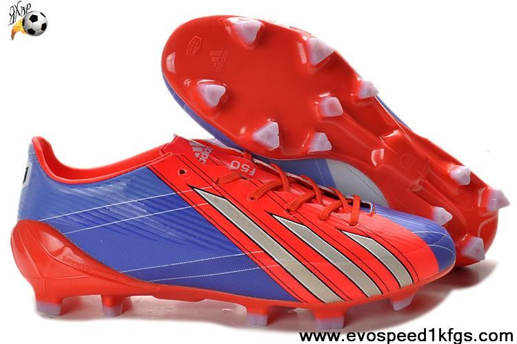 timeless design 7f247 3fde0 Discount Adidas F50 adizero TRX FG TPU Red Blue-White Grey Soccer Boots On  Sale