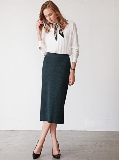 812c8a82cdeba7 Fitted and feminine. | UNIQLO Fall 2017 | Fashion pants, Skirt ...