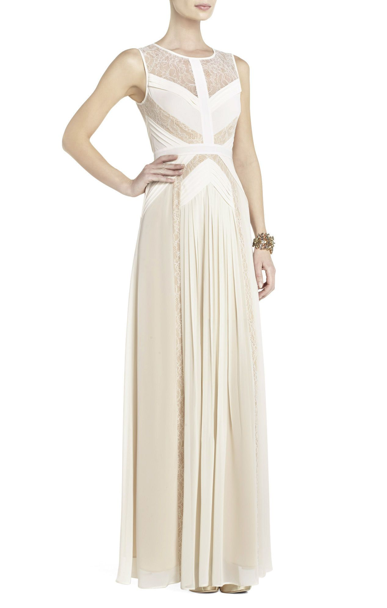 Avi Pleated Gown | BCBG I think this would be a gorgeous wedding ...