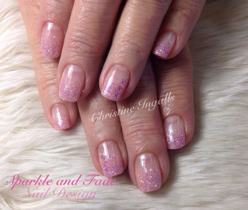 Entity Gel Polish - Pink sparkle fade - Done by Christine Ingalls of ...