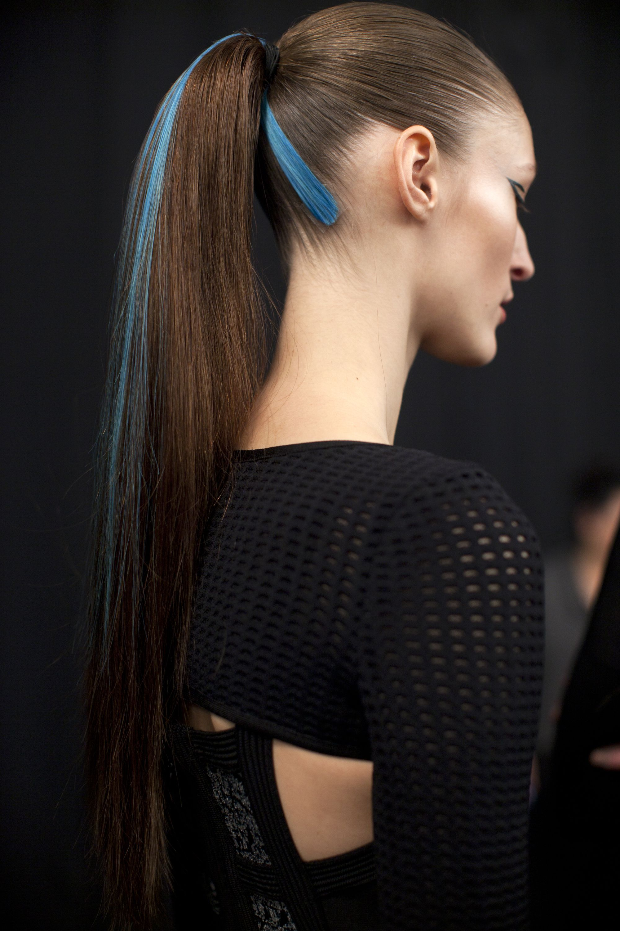 Cyber Ponies Backstage At Herve Leger With Bumbleandbumble