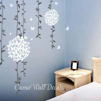 Free Delivery And Buy 2 Get One FREE Wall Sticker Now! Beautiful Vines With  Butterflies Flowers Wall Decals Free Delivery And Buy 2 Get One FREE Wall  ... Part 40