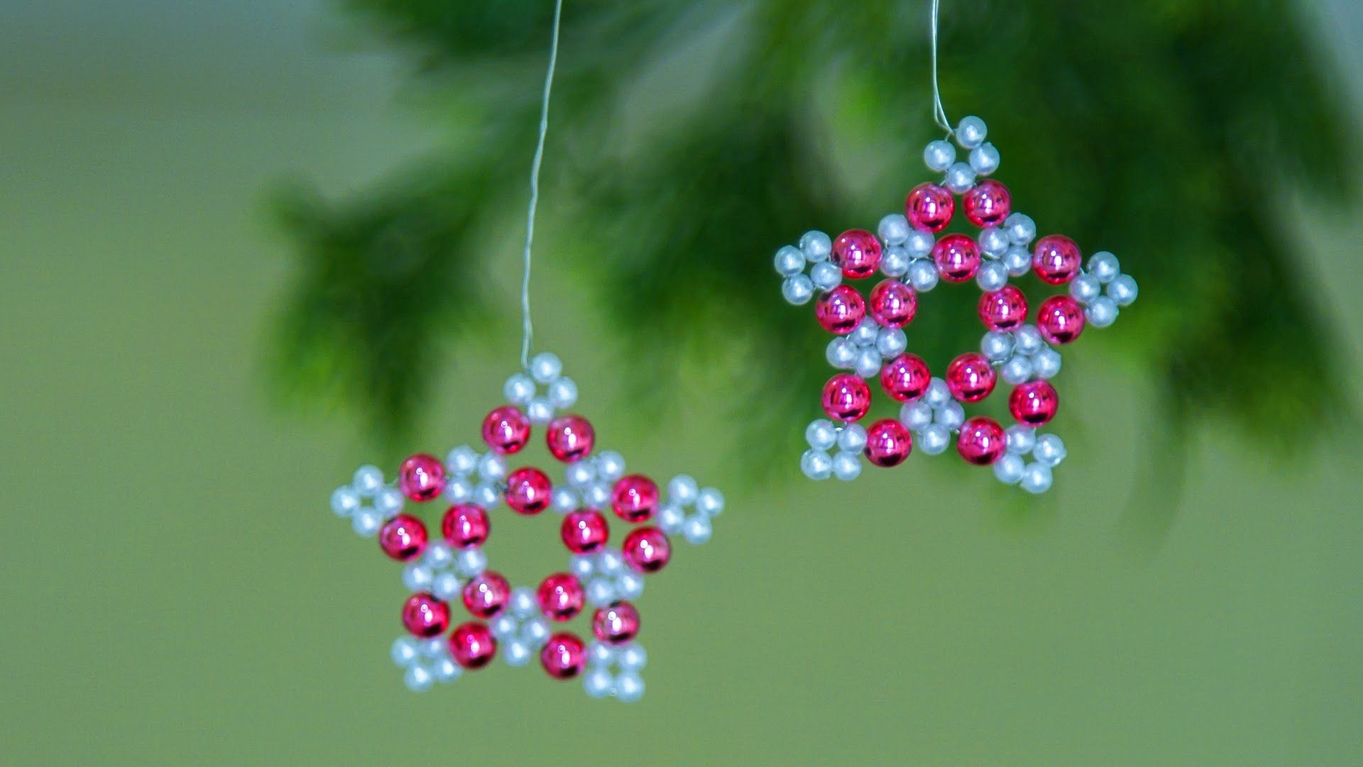 Handmade christmas ornaments with beads - How To Make Christmas Ornament Diy Beaded Christmas Ornament