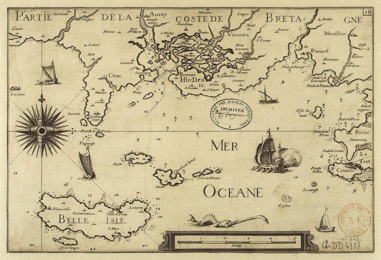 Belle Ile Sebastien Cramoisy 1634 Cartes Anciennes Carte