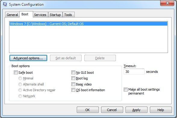 How To Use System Configuration To Change Startup Selection In