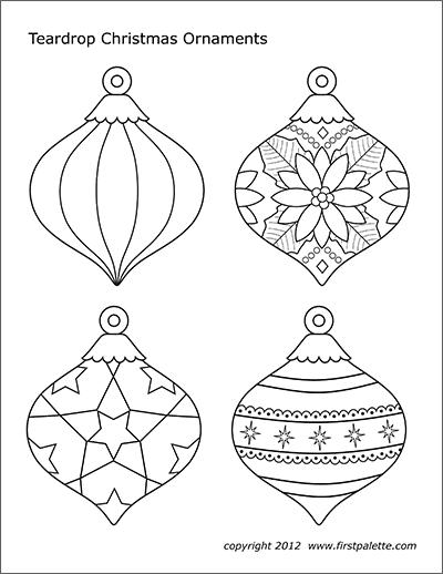 Christmas Tree Ornaments Free Printable Templates Coloring Pages Fi Printable Christmas Ornaments Christmas Ornament Template Painted Christmas Ornaments
