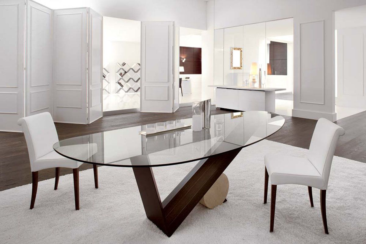 2019 Best Dining Room Chairs With Elegance And Practicality With Images Minimalist Dining Room Glass Top Dining Table Oval Table Dining