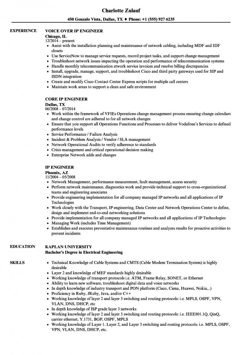 12 Voice Engineer Resume