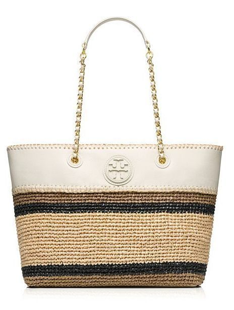 Tory Burch Marion Crochet Straw Tote