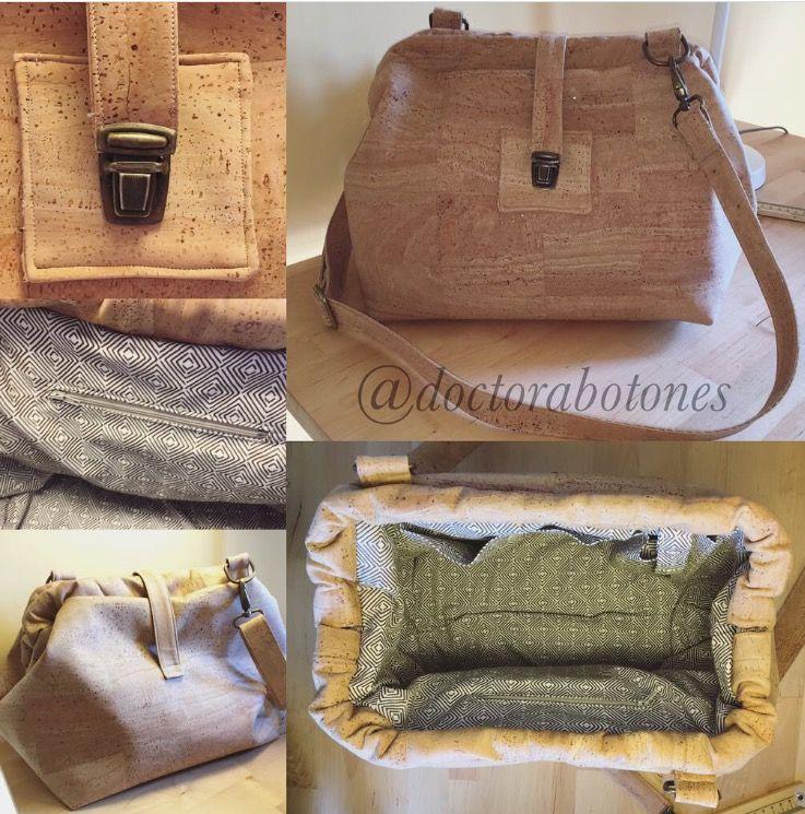 Bolso con tela de corcho realizado por stephanie tela de - Tela de corcho ...