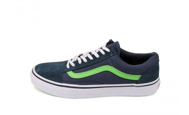 vans old skool dress blue green flash