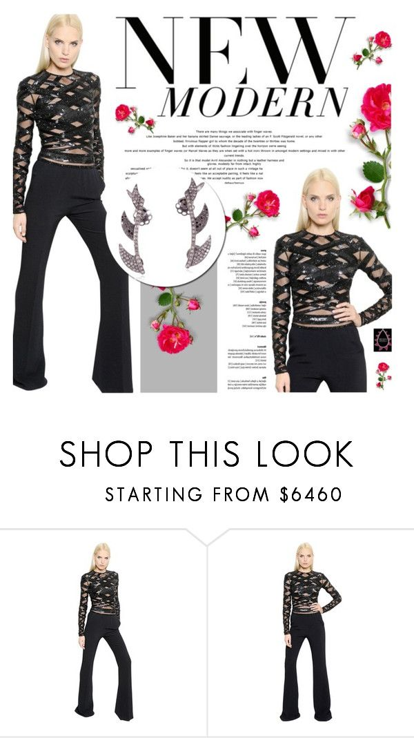 """""""Megha Jewels"""" by defivirda ❤ liked on Polyvore featuring Zuhair Murad"""