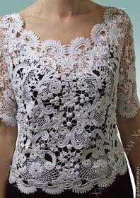 Irish crochet &: Irish lace by Alla Khlavnovich #irishlace