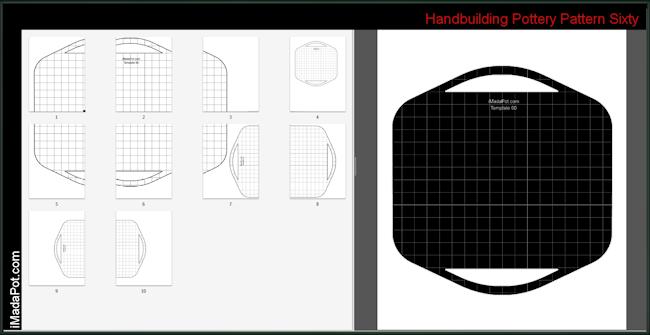 Free Downloadable Pottery Handbuilding Pattern Template Slab Pottery Slab Ceramics Pottery