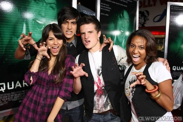 Avan and Avan goofing of with friends