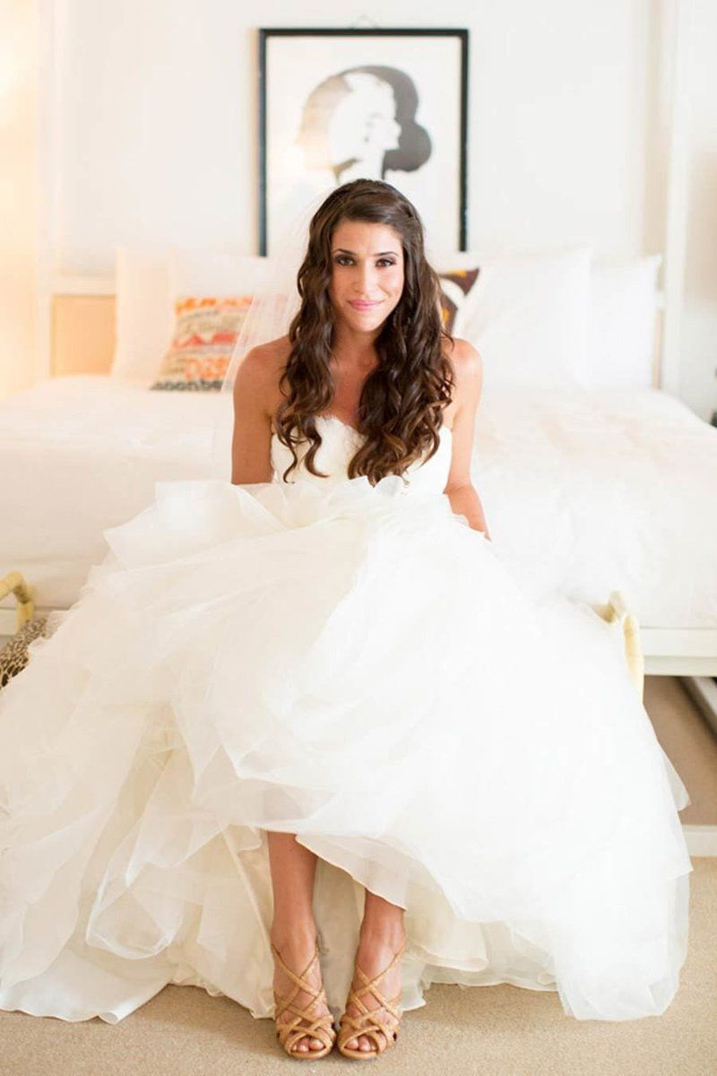 Ivory beach wedding dresses  Deep V neck Wedding DressLace Wedding DressSpaghetti Straps Beach