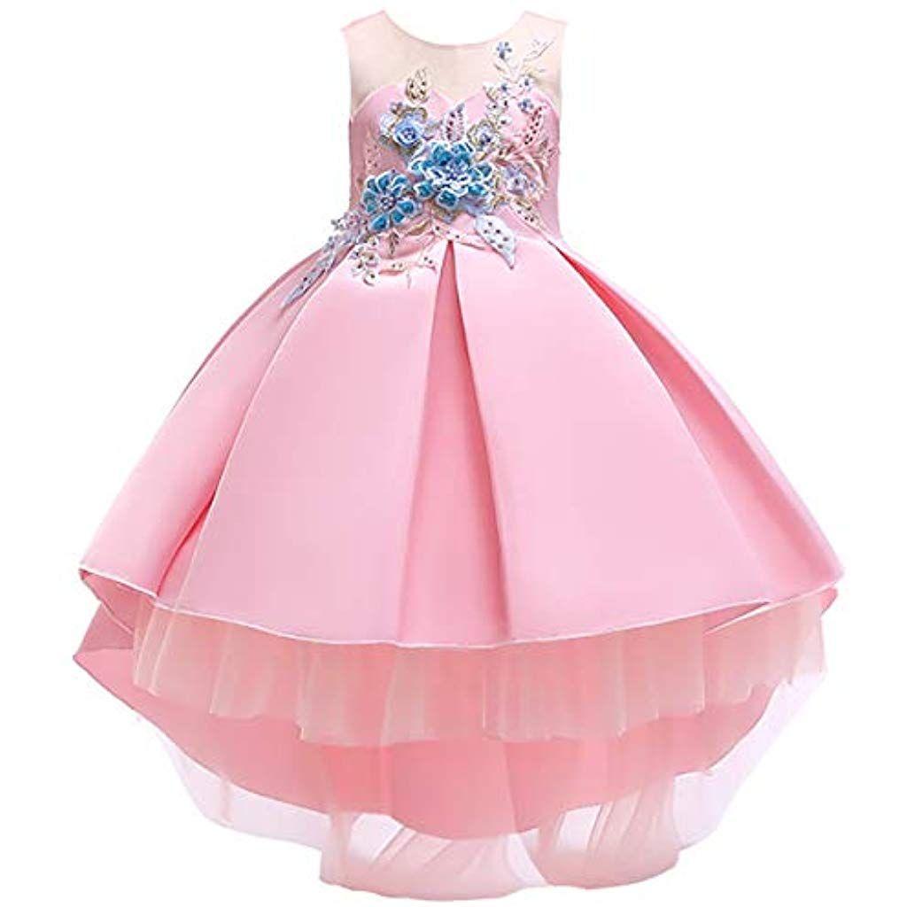 Mädchen Kinder Kleid Abendkleid Prinzessin Hochzeit Taufe Kleider Sommerkleid
