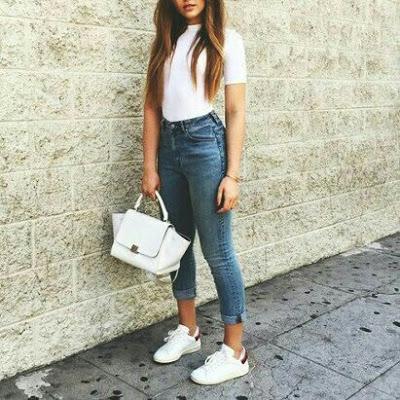 Ideas De Outfits Con Jeans Tiro Alto Outfits Con Jeans Casual Outfits Fashion