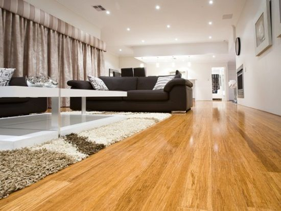 Bamboo Flooring Applied In The White Living Room Bamboo Flooring Living Room Timber Flooring Home