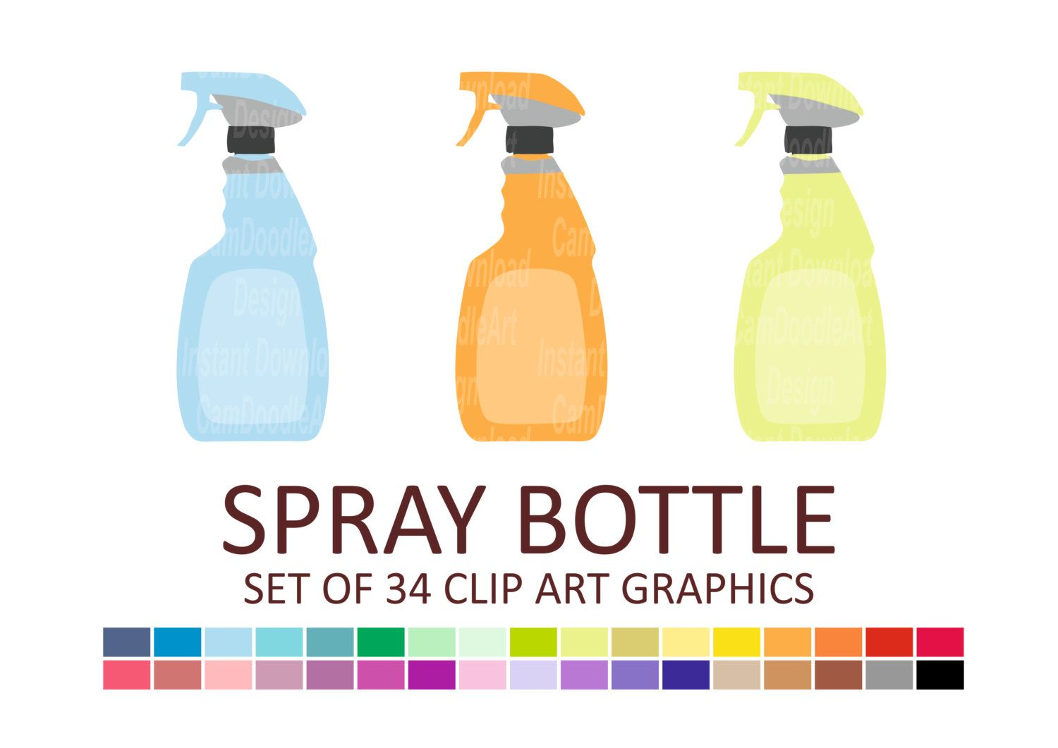 This Item Is Unavailable Etsy Spray Bottle Clip Art Spray