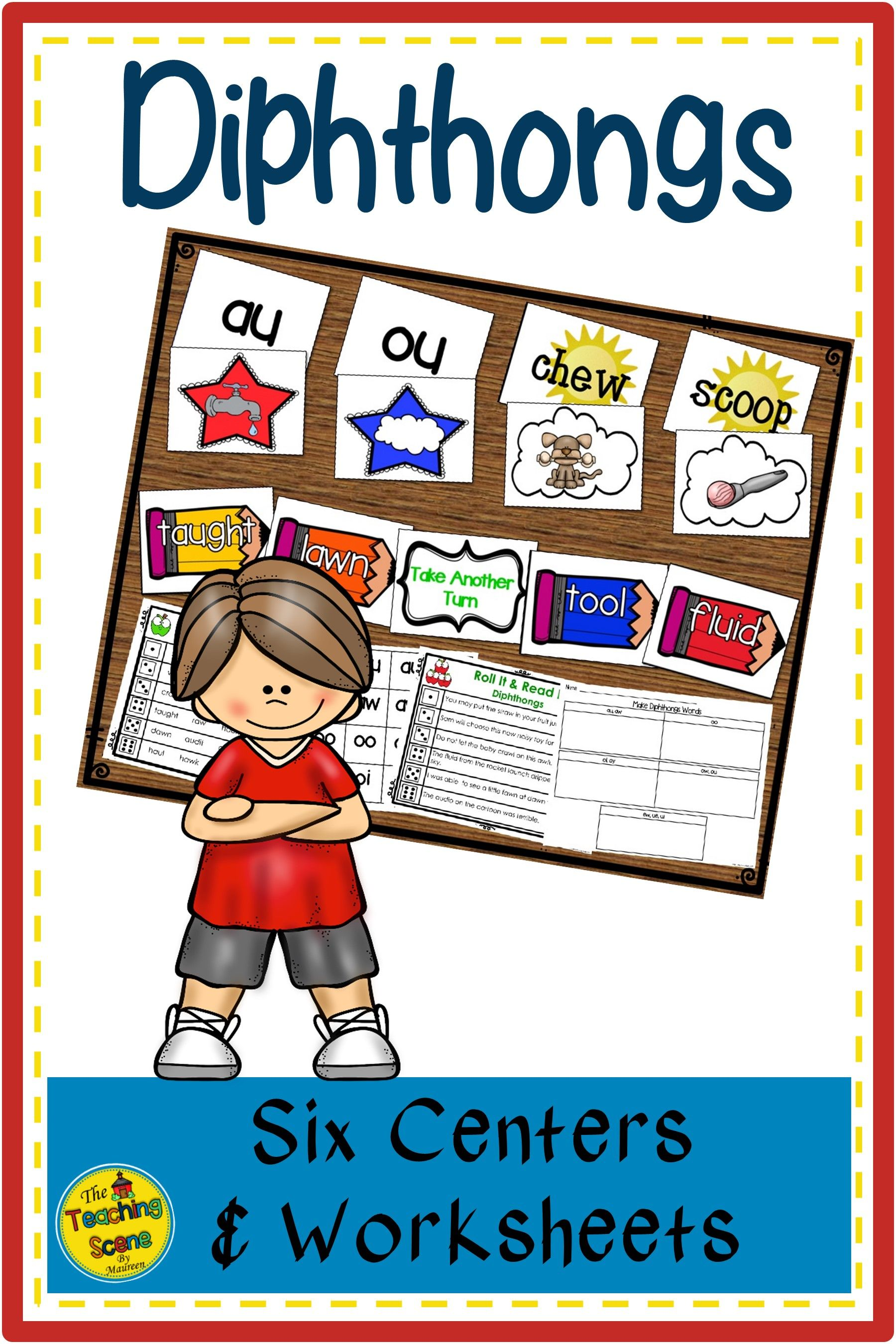 Diphthongs Centers Activities Amp Worksheets