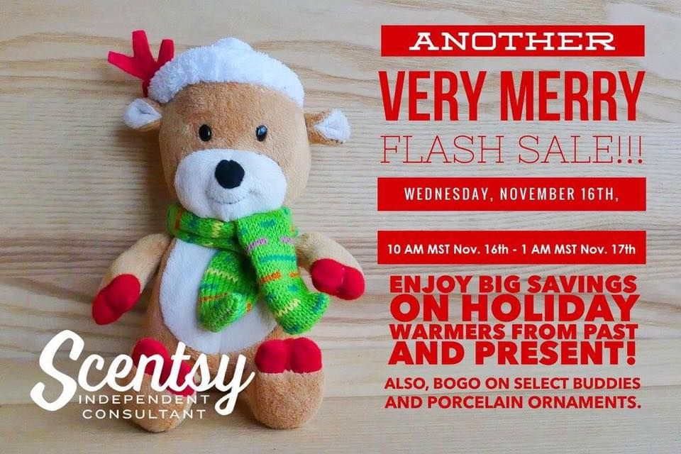 FLASH SALE starting at 9am PST.  Join in the fun and save.