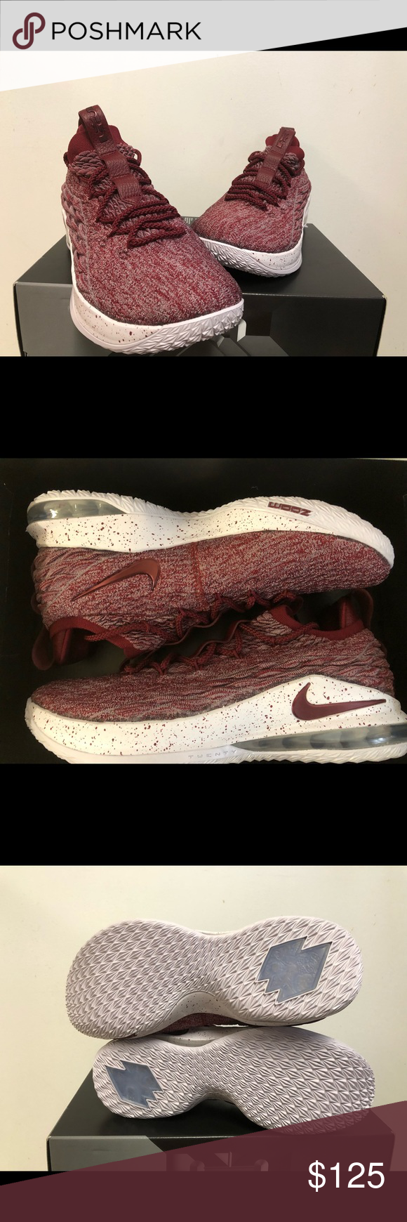 9252feb0c26 NIKE LEBRON 15 XV LOW TEAM RED AO1755-200 100% authentic and deadstock Come  with original box but box lid was removed for display Nike Shoes Athletic  Shoes