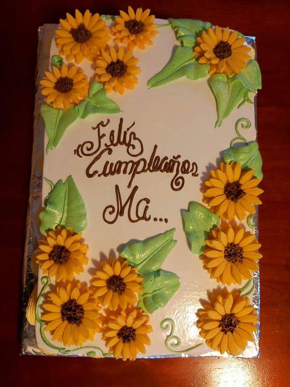 Pastel De Girasoles Sunflower Party Cake Cafe Bar