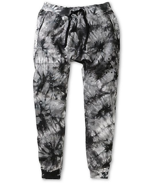 0657320f32 Update your style and show off your kicks with elastic ankle cuffs with two  side zipper pockets and an all-over tie dye design.