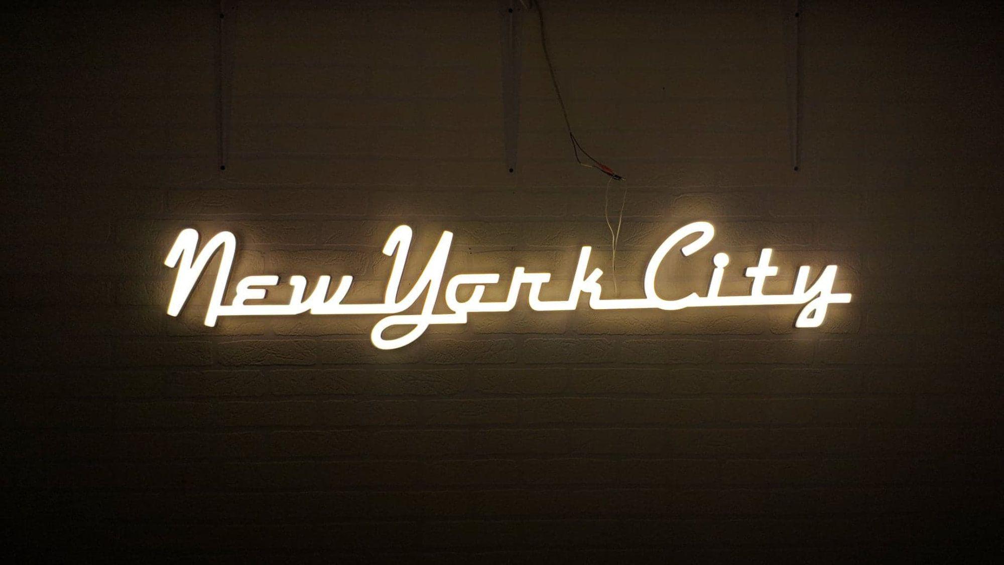 New York City Neon Sign Neon Decoration Custom Neon Decoration Ze Sklepu Neonworkshop Na Etsy Neon Decor Neon Signs Neon