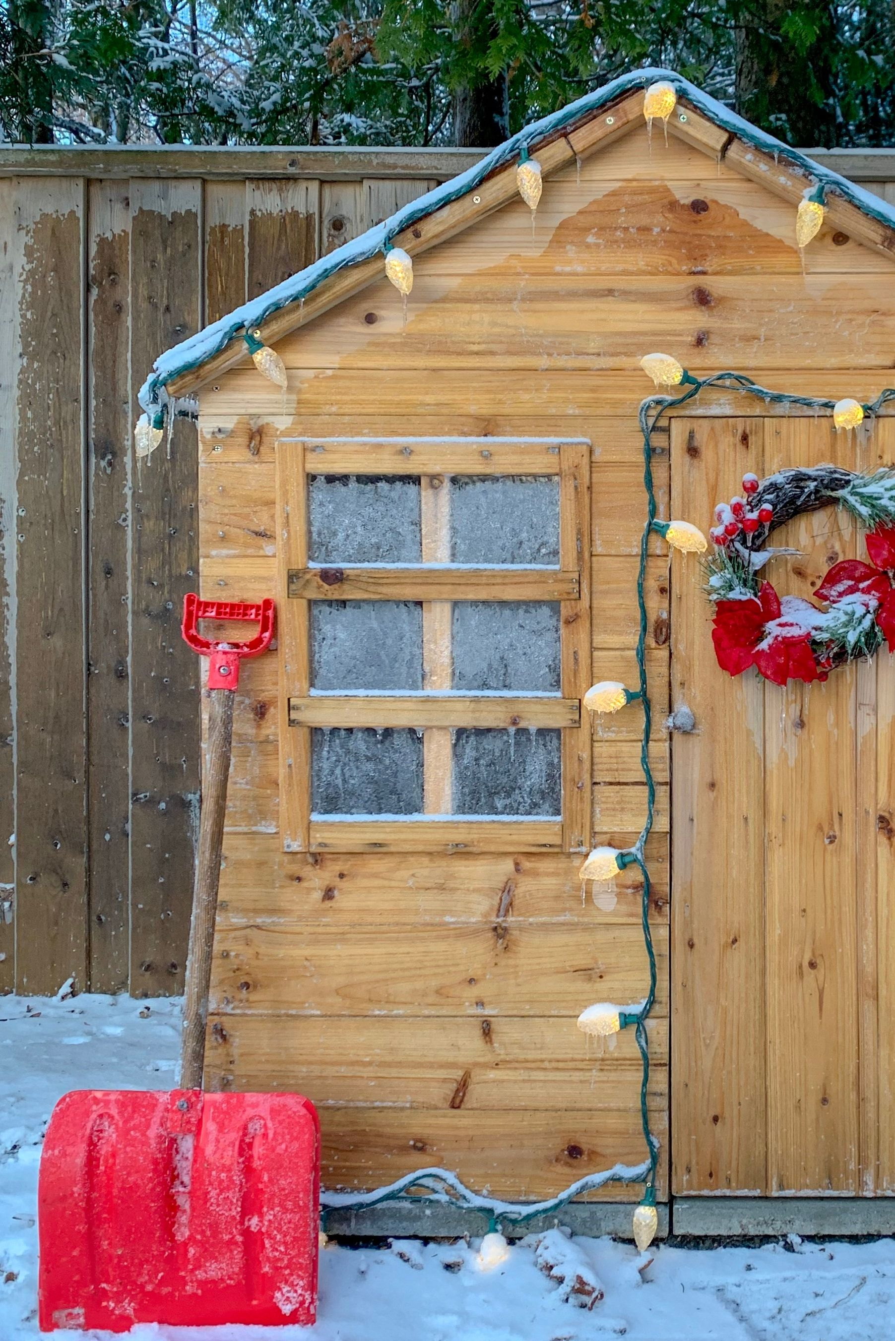 Who wouldn't love a little Christmas grotto in their own