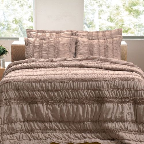 Found it at Wayfair - Tiana Ruched Quilt Set