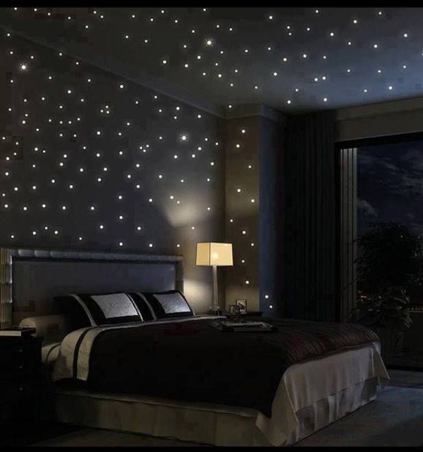 Either LED/fibre Optic Lights IN The Ceiling. Picture Courtesy Of Stylish  Eve