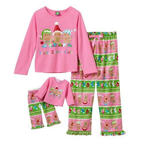 Dollie   Me Gingerbread Man Pajama Set - Girls  85da295fc