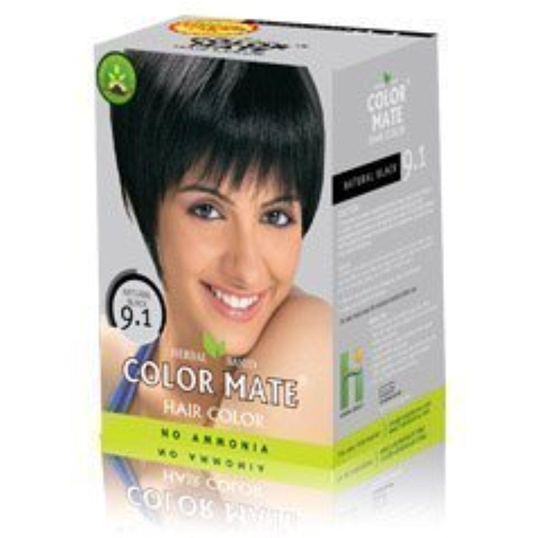 Color Mate Hair Color 91 Natural Black No Ammonia 150 G 10